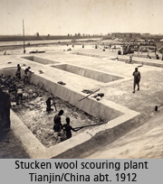 Stucken wool scouring plant Tianjin/China abt. 1912